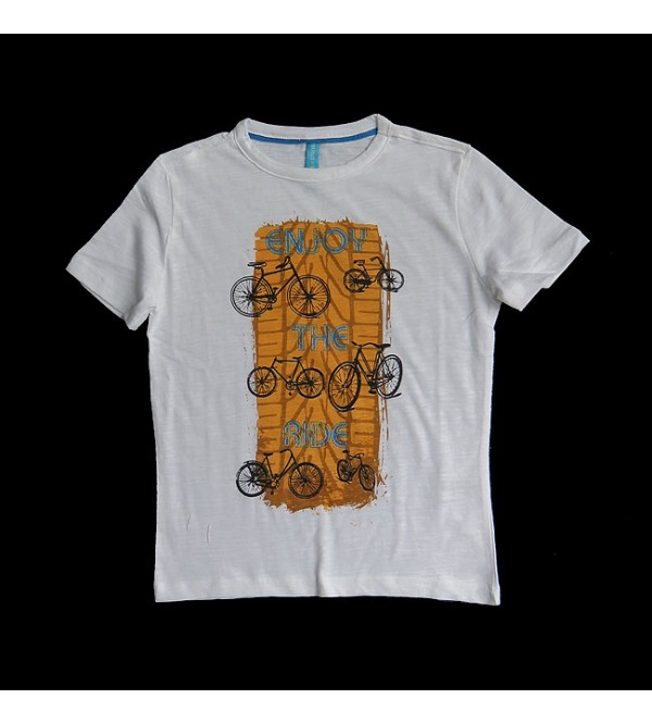Boys Cycle Print T Shirt