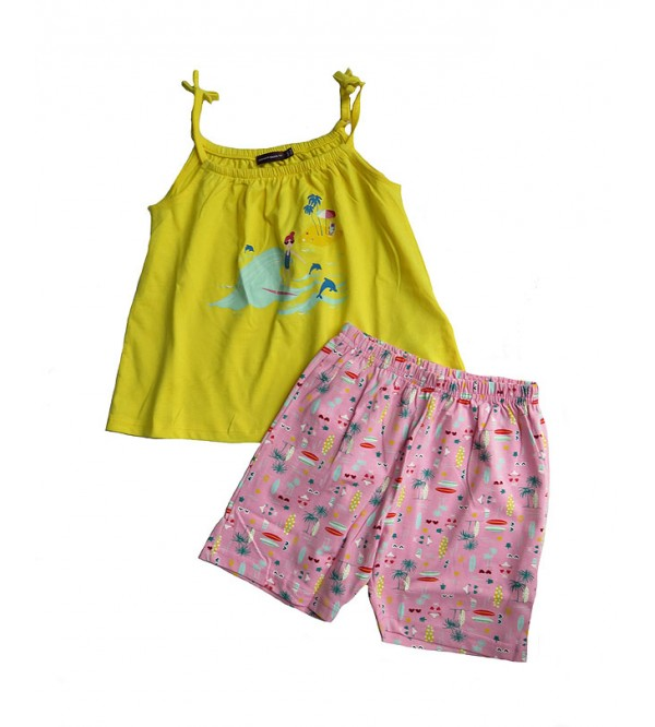 Girls Printed Shorty Set (Strappy top + Shorts)