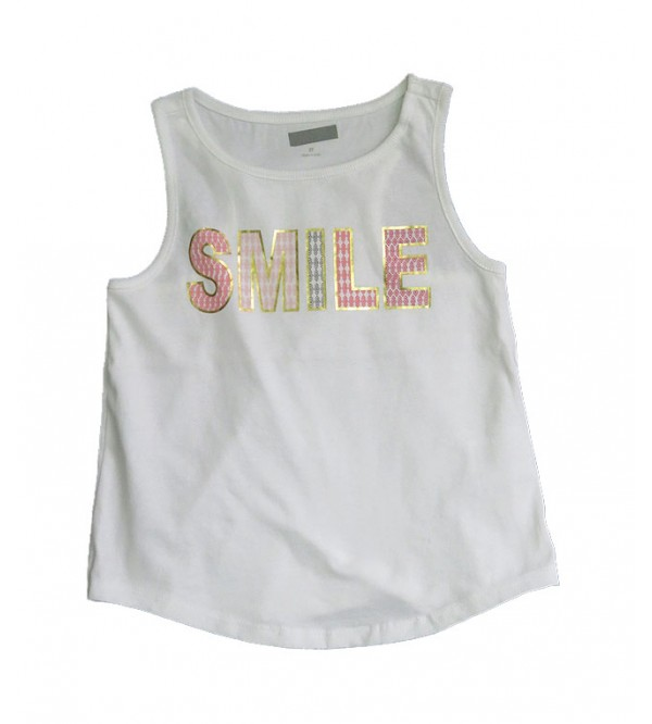 Girls Sleeveless Printed T Shirt