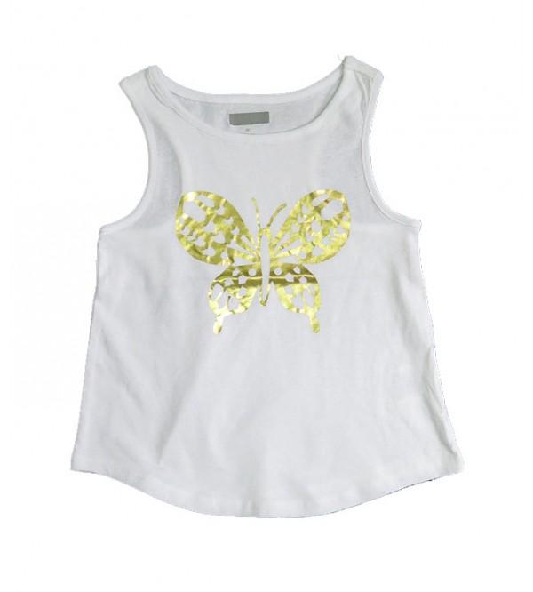 Girls Sleeveless Printed T Shirt