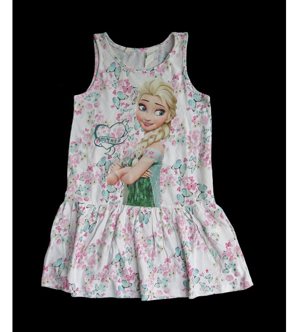 FROZEN Girls Stretch Knit Dress