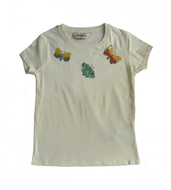 Girls Short Sleeve Sequinned T Shirt