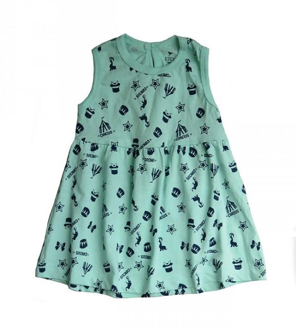 Baby Girls Sleeveless Printed Dress