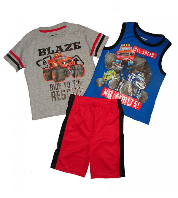 BLAZE Boys 3 pcs Shorty Sets
