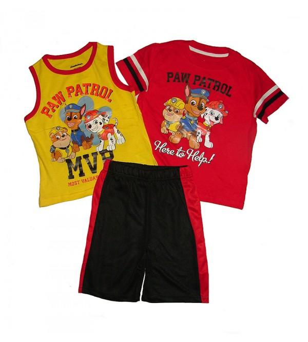 Character Printed Boys 3 pcs Shorty Sets (T Shirt + Vest + Shorts)