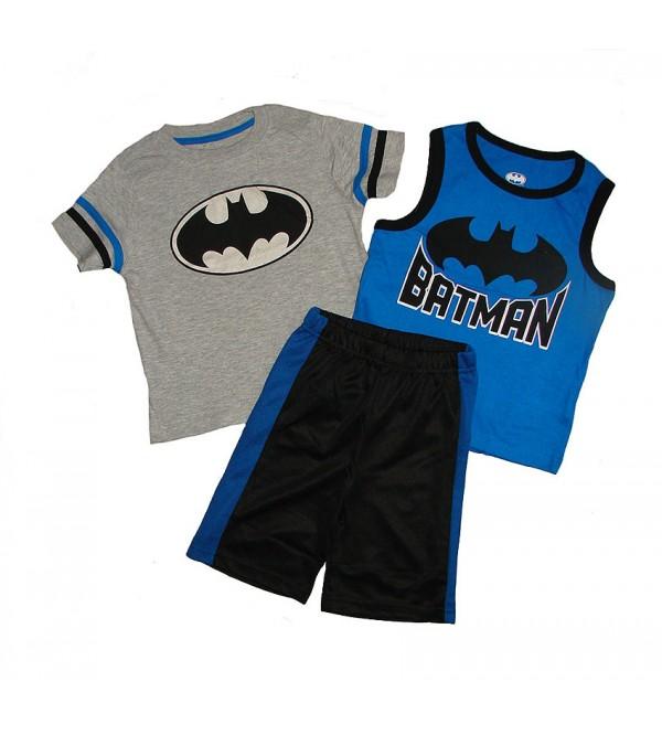 BATMAN Boys 3 pcs Shorty Sets (T Shirt + Vest + Shorts)