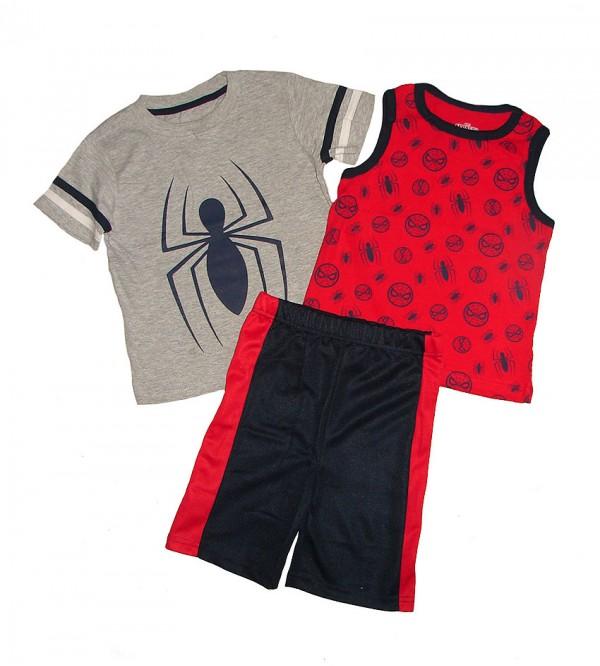 SPIDERMAN Boys 3 pcs Shorty Sets (T Shirt + Vest + Shorts)