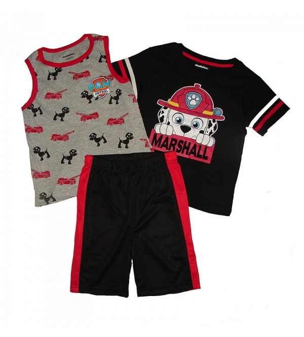 Character Printed Boys 3 pcs Shorty Sets (T Shirt + Vest + Shorts)
