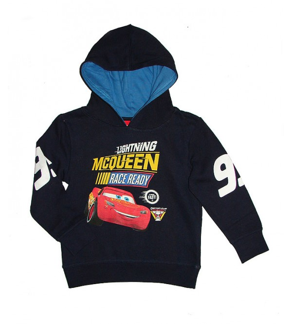 Cars Boys Printed Pullover Sweatshirt With Hoodie