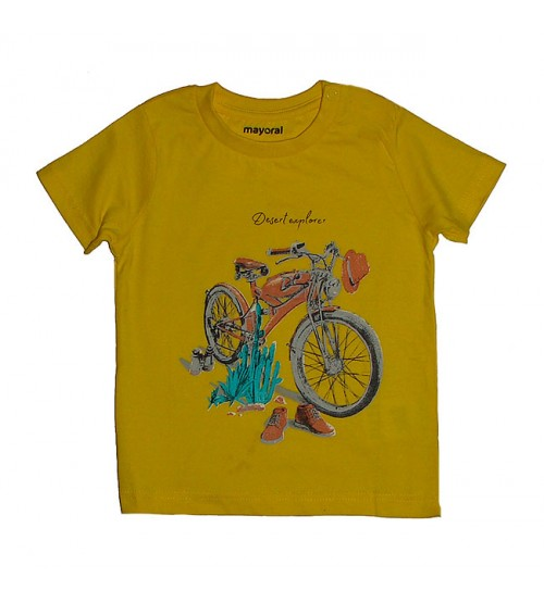Baby Boys Short Sleeve Printed T Shirt