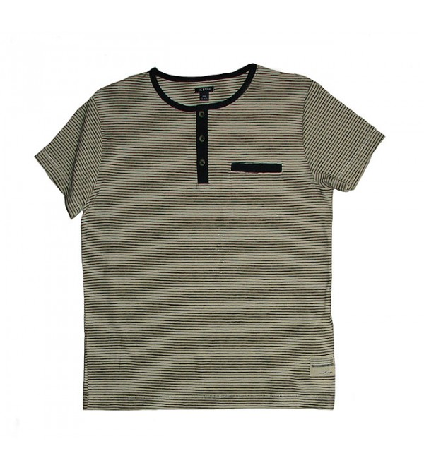 Boys Henley Neck Pocket Tee