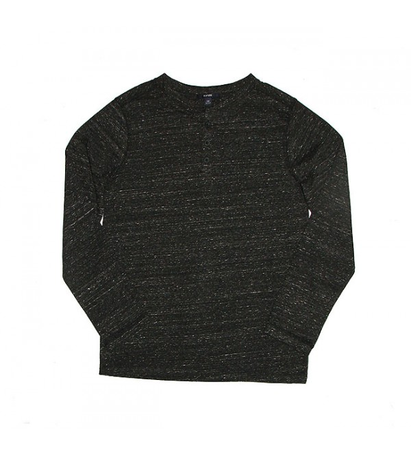 Boys Neppy Long Sleeve Henley T Shirt