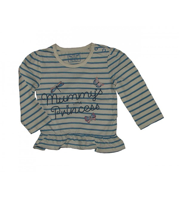 Baby Girls Long Sleeve Striped Tops