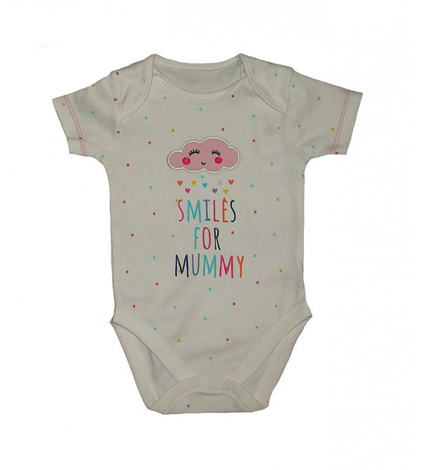 Baby Short Sleeve Printed Rompers