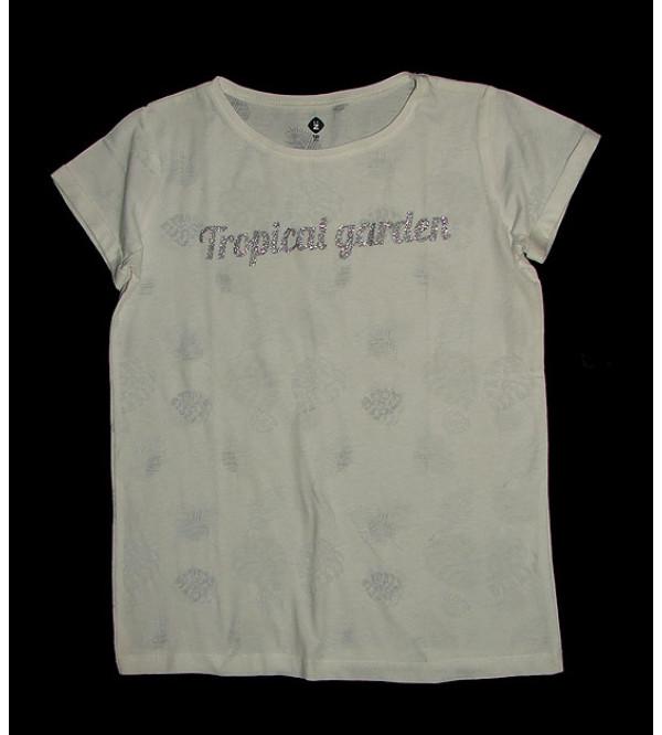 Older Girls Printed Burnout T Shirt