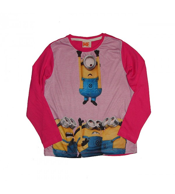 MINION Girls Long Sleeve Sublimation Printed T Shirt