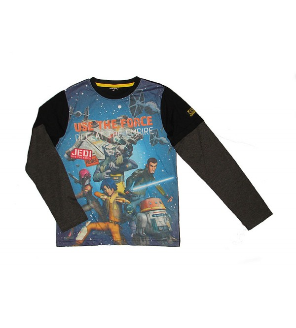 STAR WARS Boys Double Sleeve Sublimation Printed T Shirt