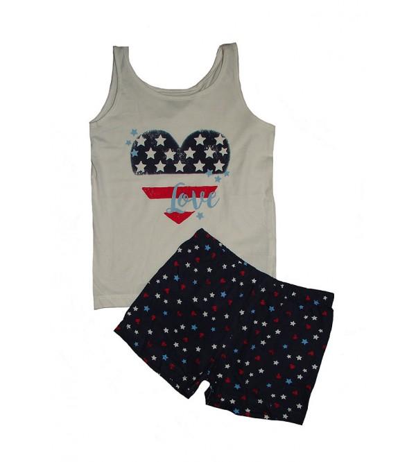 Girls Printed Shorty Pyjama Set