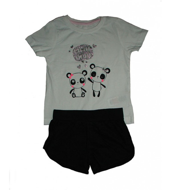 Baby Girls Printed Shorty Sets