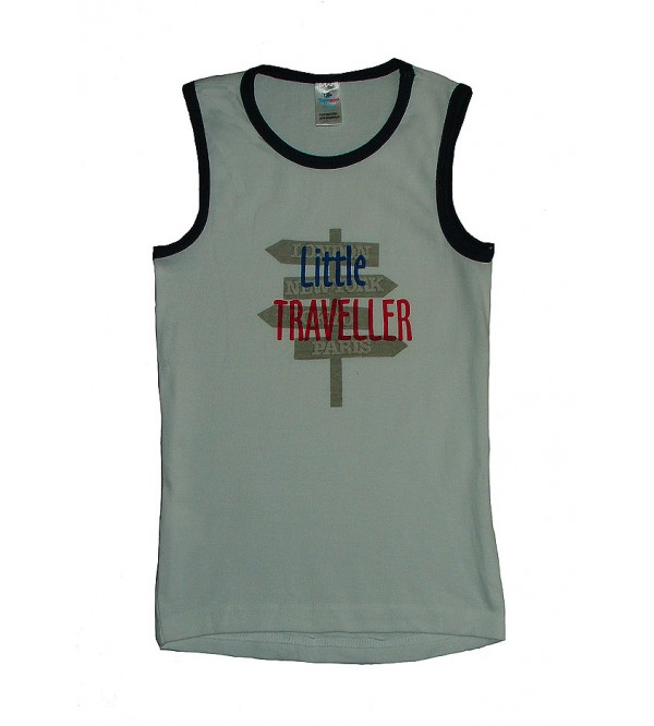 Boys Sleeveless Printed T Shirts