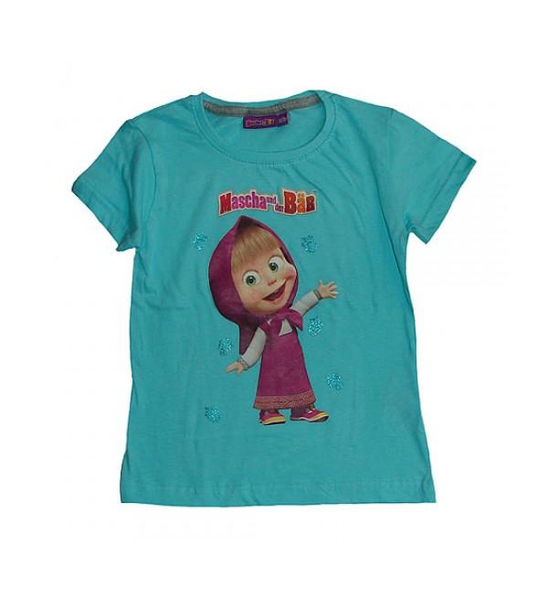 Character Printed Girls Short Sleeve T Shirt