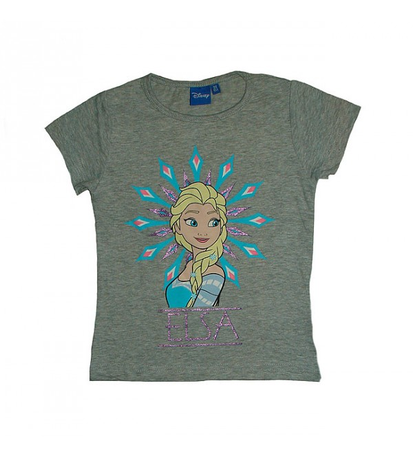 Character Printed Girls Short Sleeve T Shirt