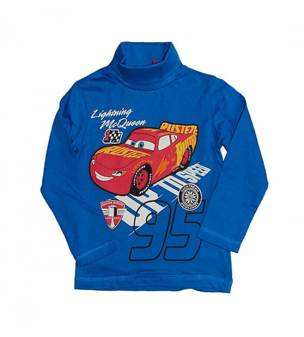 Cars Boys Turtle Neck Printed Long Sleeve T Shirt