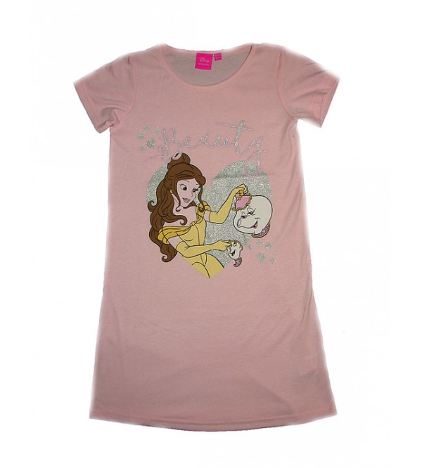 DiSNEY Girls Glitter Printed Long Night Shirt