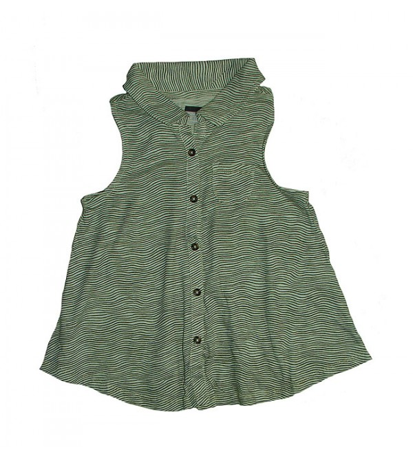 Girls Sleeveless Printed Swing Shirt