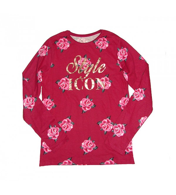 Older Girls Long sleeve Glitter Printed T Shirt