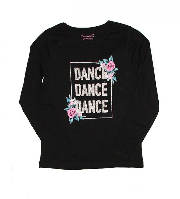 Older Girls Glitter Printed T Shirt