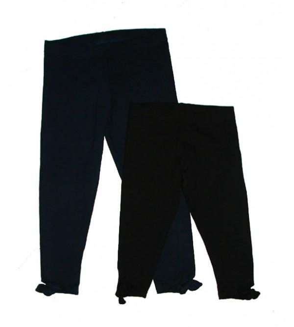 Girls Stretch Capri Leggings With Tie Feature