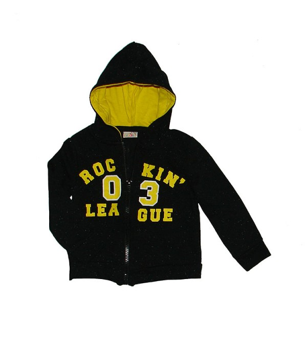 Baby Boys Fleece Full Zipper Sweatshirt With Hoodie