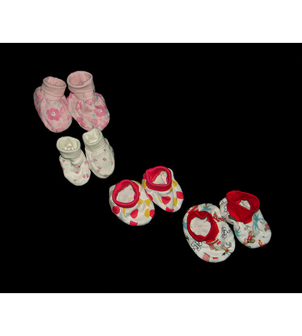 Baby Printed Knit Booties Pairs