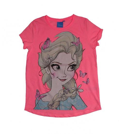 DiSNEY Girls Short Sleeve Printed T Shirt