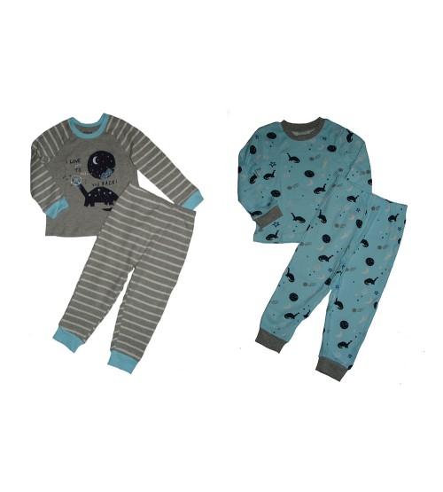 Baby Boys Printed 2 Pairs Pyjama Sets Pack