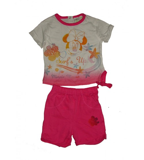DiSNEY Baby Girls Printed Shorty Sets