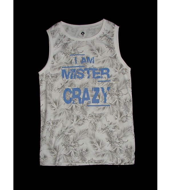 Boys Sleeveless Printed T Shirt