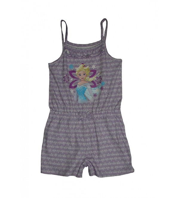 DiSNEY Girls Printed Strappy Dungarees