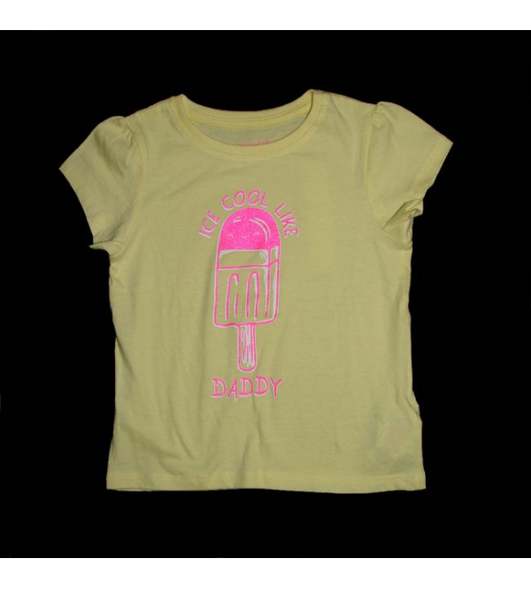 Baby Girls Short Sleeve Printed Tops