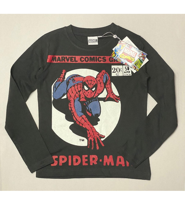 SPIDERMAN Boys Long Sleeve  T Shirt
