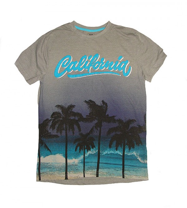 Boys Tropical Print T Shirt