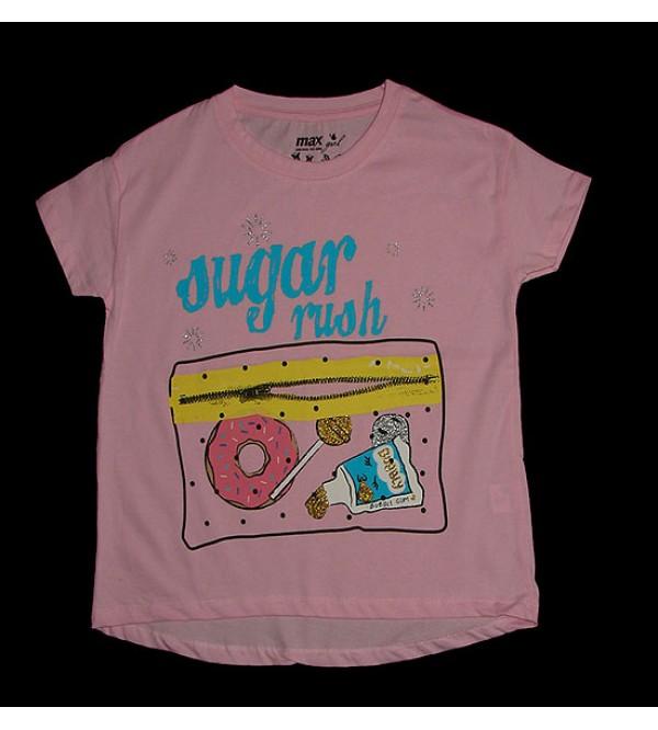 Older Girls Short Sleeve Glitter Printed T Shirt