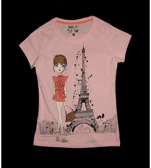 Older Girls Short Sleeve Glitter Printed T Shirts