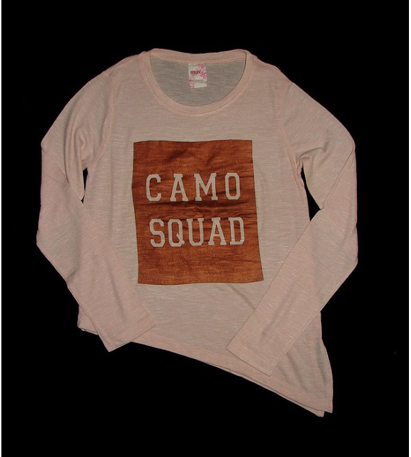 Camo Squad Girls Asymmetric hem T-Shirt