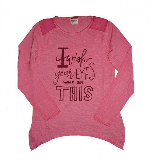 Older Girls Long Sleeve Printed Fancy T Shirts