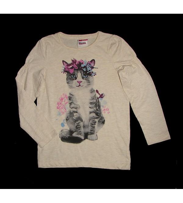 Older Girls Long Sleeve Printed Fancy T Shirts