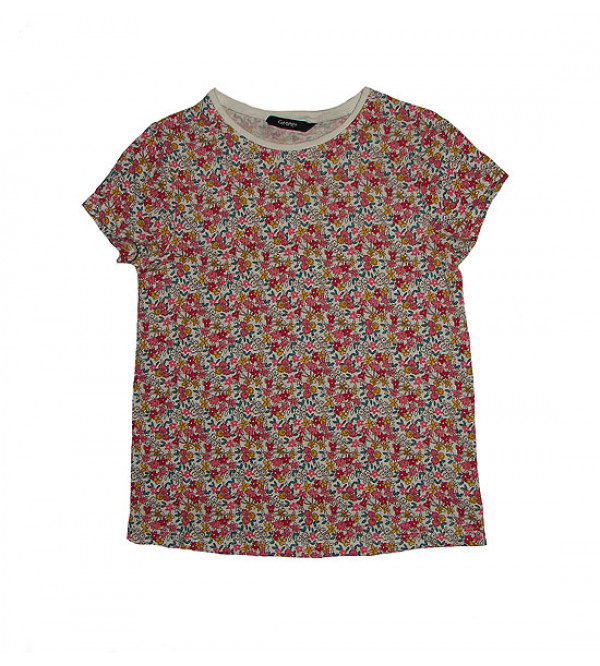 Flower Printed Girls T-Shirt