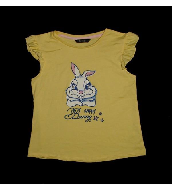 Girls Cap Sleeve  Printed T Shirts