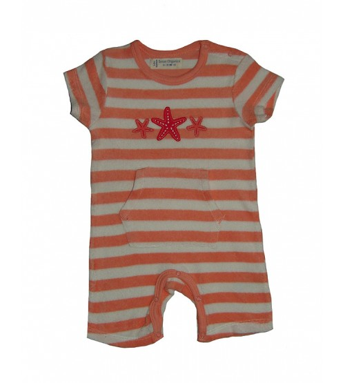 Baby Boys and Girls  Striped Terry Playsuits Applique